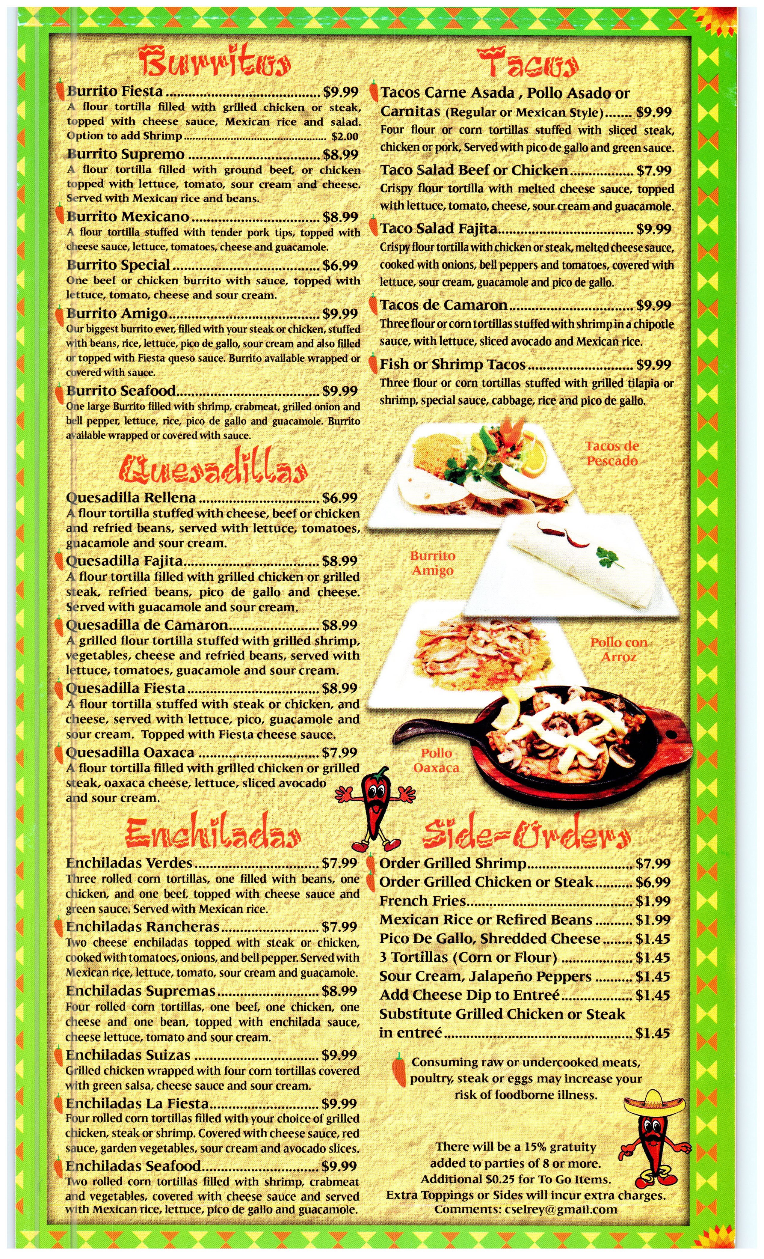 Fiesta Mexicana Mexican Food Pg 5